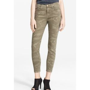 Current/Elliott 'Stiletto' Camo Print Skinny Jeans